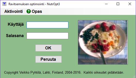 Login NutrOPT3