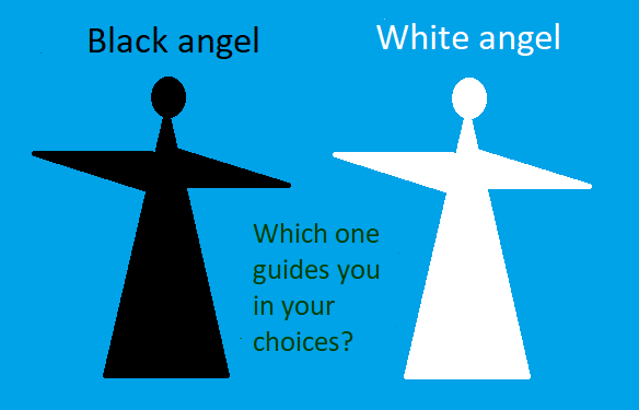 Is it black or white angel leading choices?