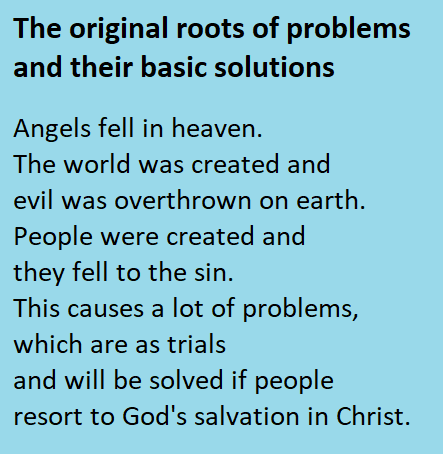 The original roots of problems and their basic solutions